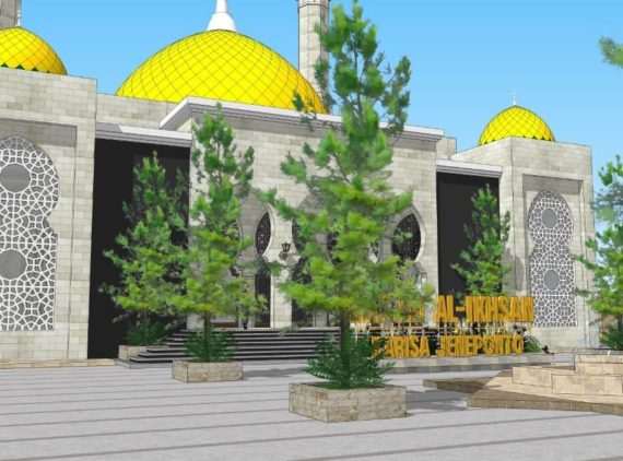 Pembangunan Masjid Al-Ihsan Karisa Jeneponto Sulawesi Selatan.